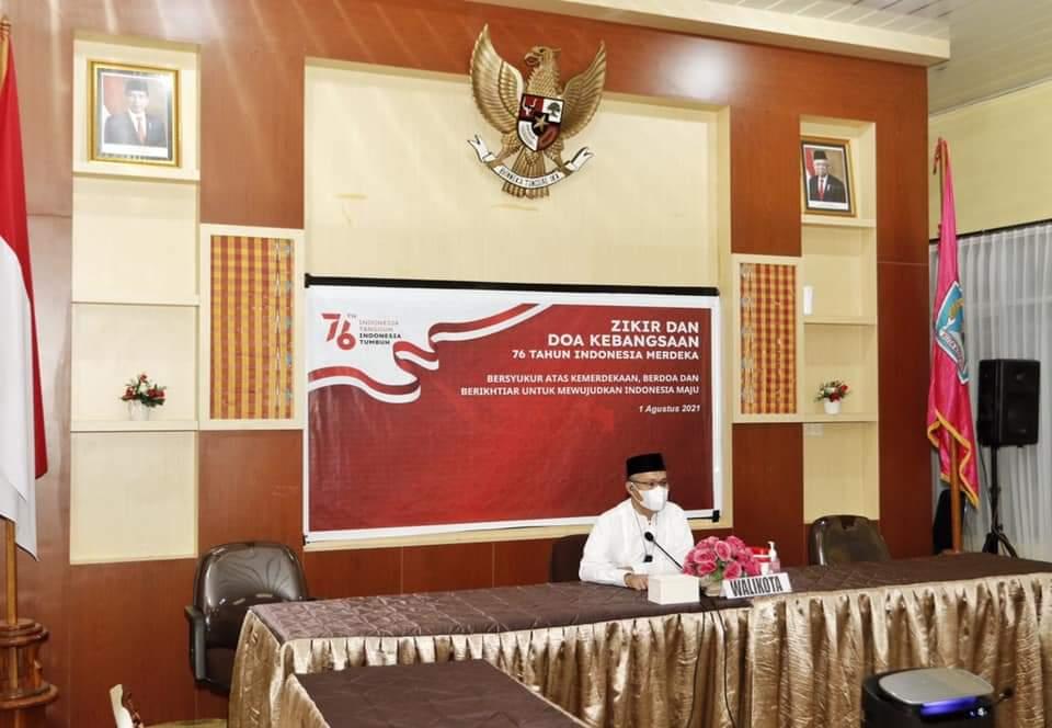 Wali Kota Kendari Ikuti Zikir dan Doa Kebangsaan Peringati 76 Tahun Indonesia Merdeka